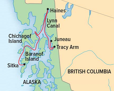 Exploring Alaska's Coastal Wilderness Itinerary Map